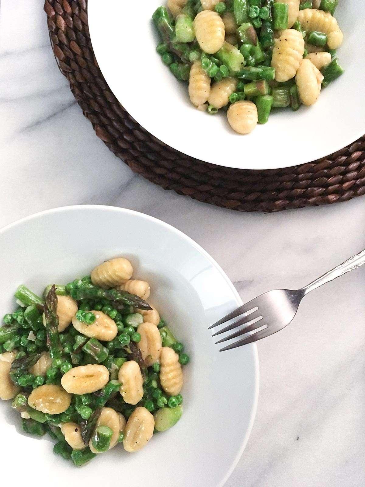 Gnocchis pois et asperges facile et rapide