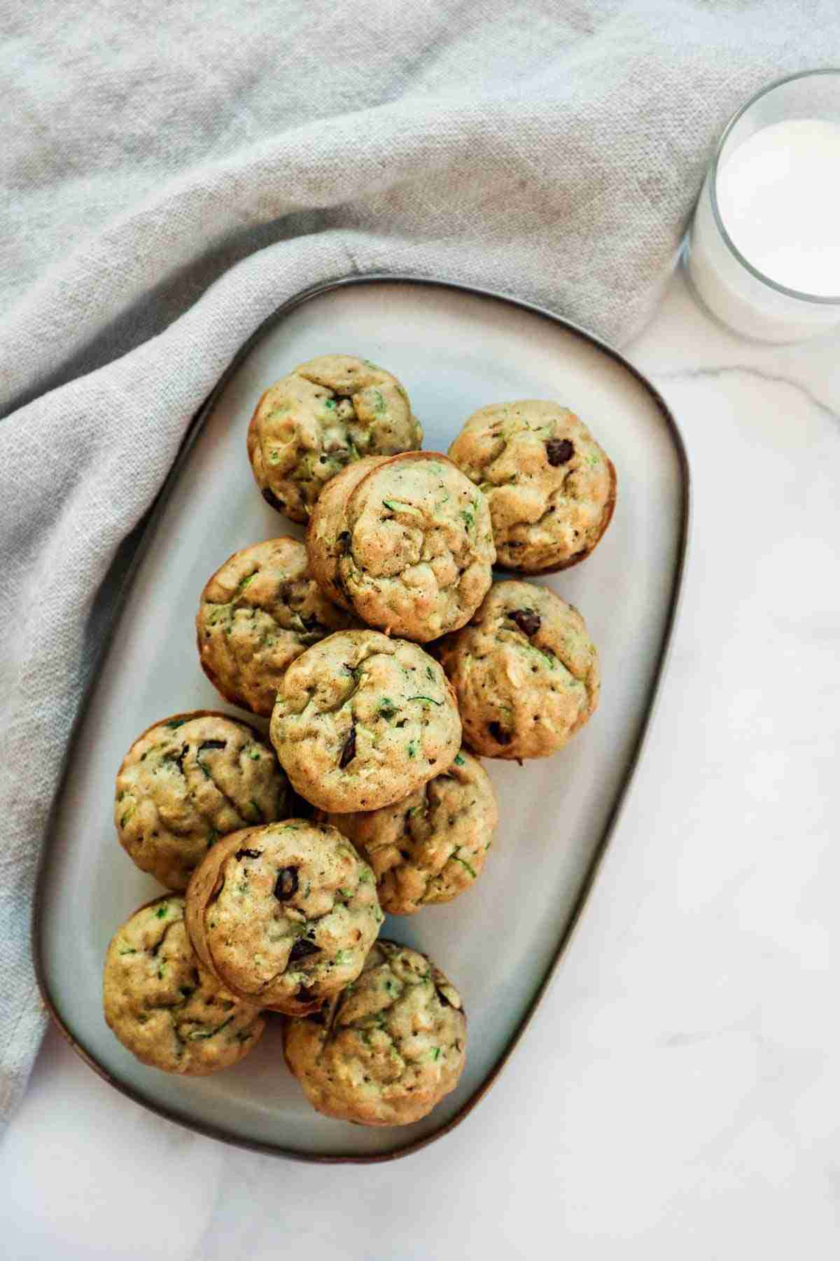 Recette de meal prep à congeler: Muffins au zucchini (courgettes)