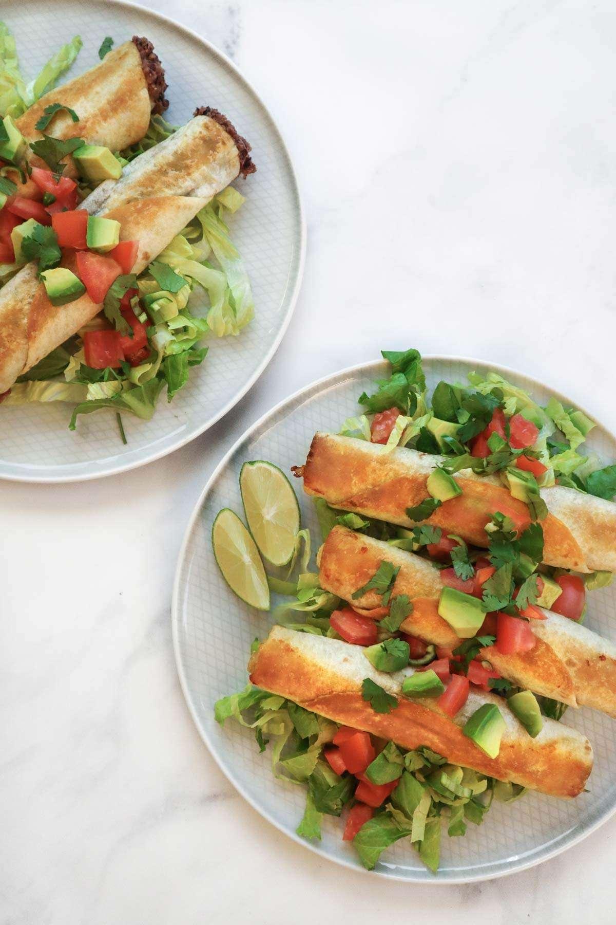 Tacos croustillants aux haricots (taquitos ou flautas)