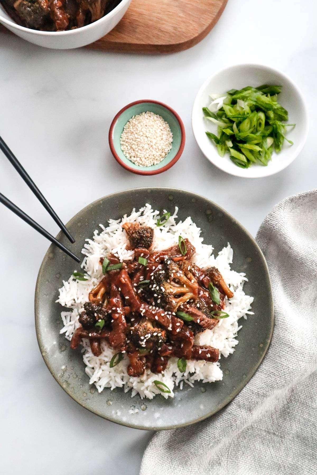 Recette de lunchs - Boeuf et brocoli teriyaki